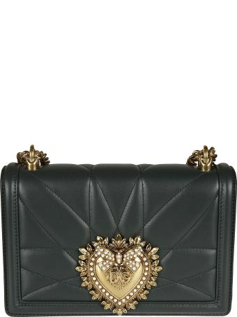 Dolce & Gabbana Heart Plaque Chain Shoulder Bag