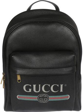 Gucci Logo Print Backpack