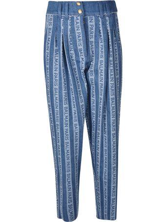 Balmain Logo Stripes Jeans