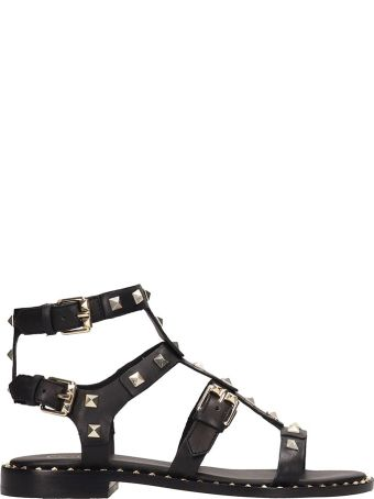 Ash Black Leather Pacific Sandals