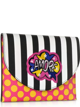 Alessandro Enriquez Miracle Pop Amore Leather Clutch