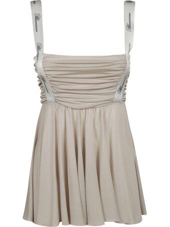 Blumarine Logo Strap Short Length Dress