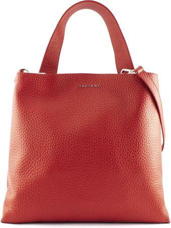 Orciani Red Leather Jackie Shoulder Bag