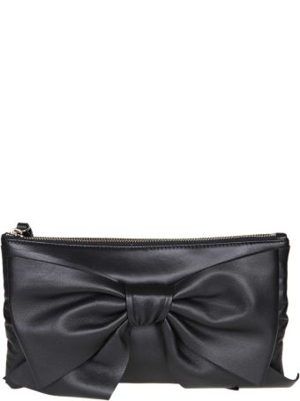 RED Valentino Flat Bag In Leather With Black Bow
