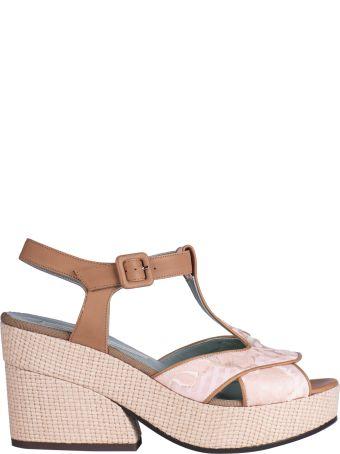 Paola D'Arcano T-bar Platform Sandals
