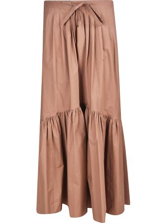 Weekend Max Mara Flared Applique Skirt