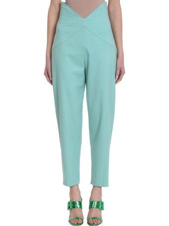 ATTICO Aquamarine Wool Trousers