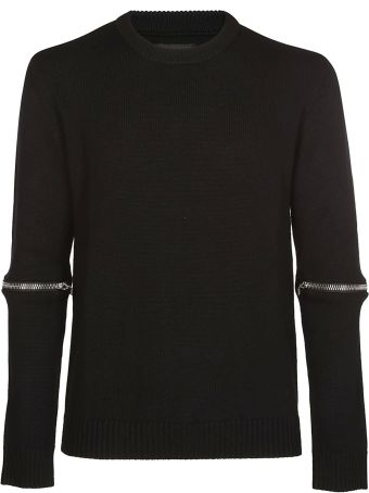 Les Hommes Zipped Sleeves Sweater