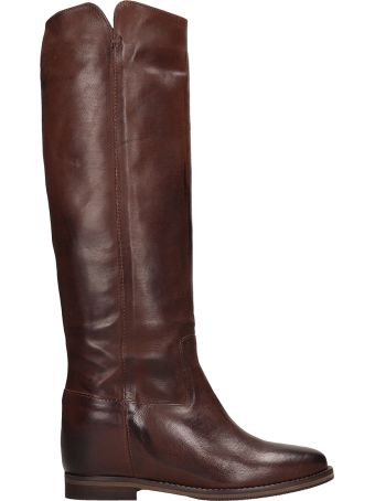 Julie Dee High Choco Leather Boots