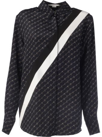 Stella McCartney Long Sleeves Silk Diagonal With Ribbon On The Neck
