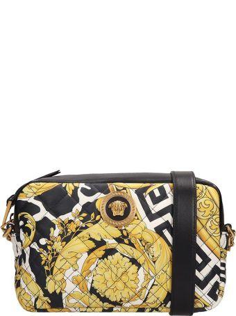 Versace Black Quilted Leather Shoulder Bag