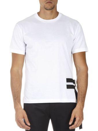 Les Hommes Black And White Cotton T-shirt