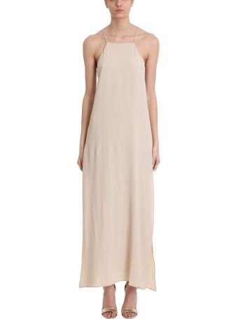 Mauro Grifoni Beige Viscose Long Dress