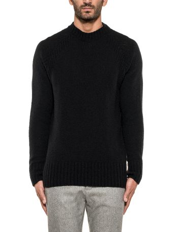 Paolo Pecora Black Wool Pullover