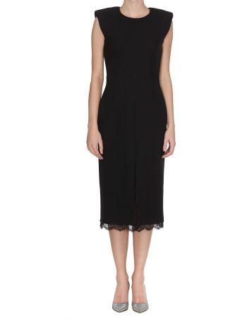 Alexander McQueen Lace Hem Dress