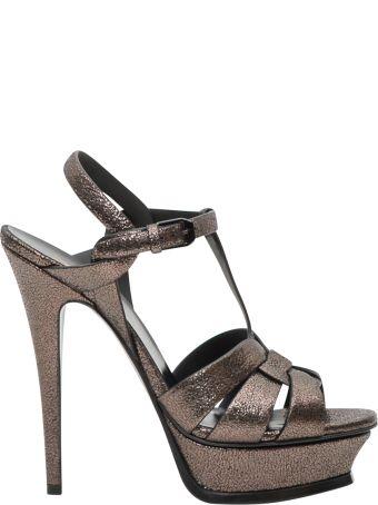 Saint Laurent Tribute Laminated Sandals