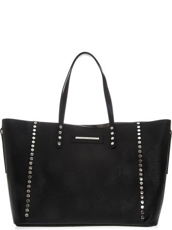 Marc Ellis Seraya Shoulder Bag In Black Hammered Leather