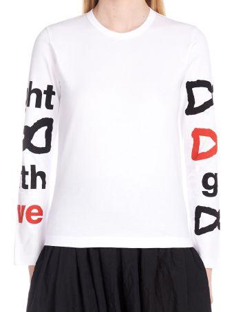 Comme Des Garçons Girl 'fight With Love' T-shirt
