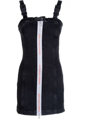 HERON PRESTON Bustier Denim Mini Dress