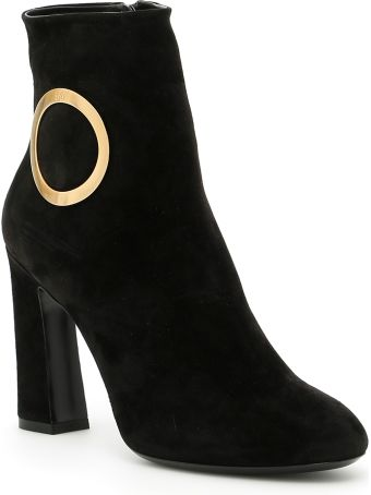 Roger Vivier Chunky Trompette Round Buckle Booties
