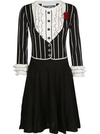 Moschino Striped Trim Dress