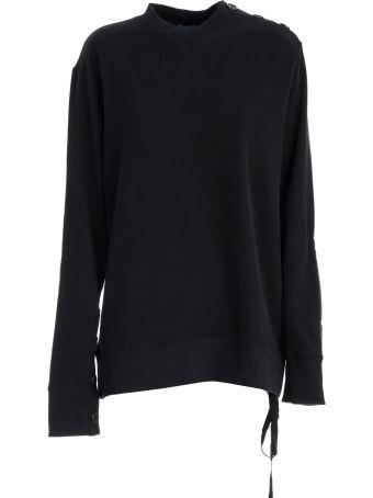 Ann Demeulemeester Ann Demeulemester Buttoned Shoulder Sweatshirt