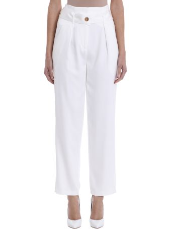 IRO White Viscose Trousers