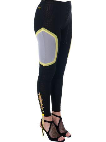 Fenty Puma by Rihanna Black Sporty Pants With Mesh Details