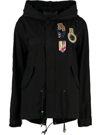 Mr & Mrs Italy Embroidered Canvas Mini-parka