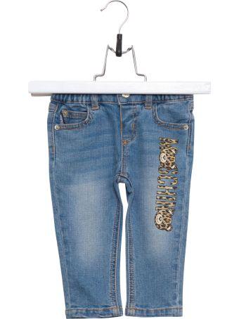 Moschino Laopard Logo Jeans