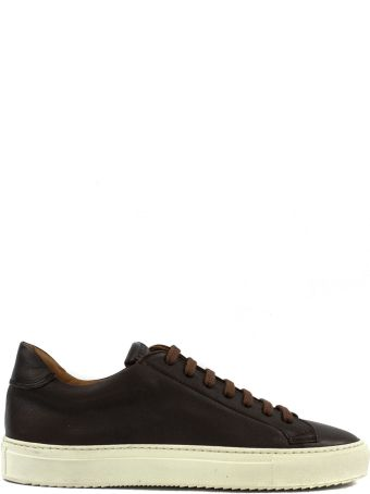 Doucal's Sneakers In Brown Leather.