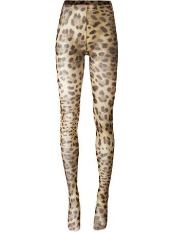 Dolce & Gabbana Leopard-printed Tights