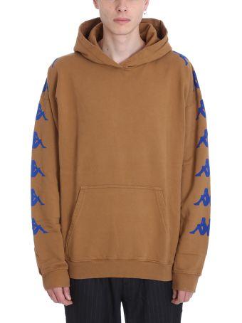 Danilo Paura x Kappa Brown Cotton Sweatshirt