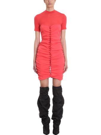 Ben Taverniti Unravel Project Elacot Lace-front Hybrid Dress