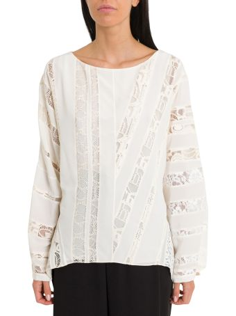 Chloé Silk Blouse With Lace Inserts