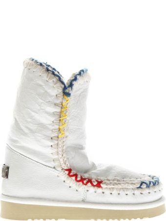 Mou White Eskimo Shearling Boots