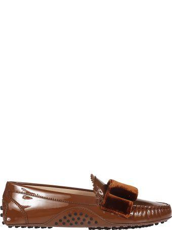 Tod's Velvet Bow Loafers