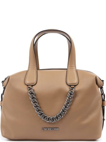 72359d1305 Love Moschino Cuir Faux Leather Handbag With Chain Detail
