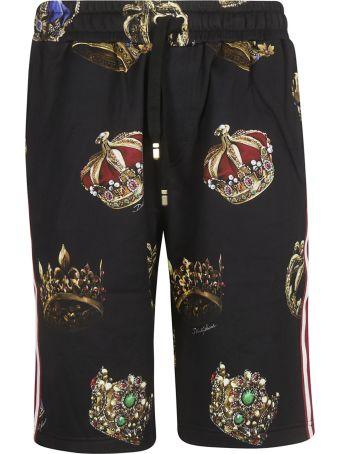Dolce & Gabbana Crown Print Shorts