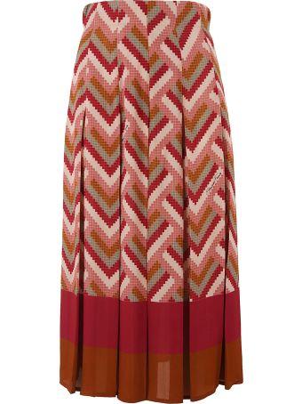 Elisabetta Franchi Celyn B. Zigzag Print Skirt