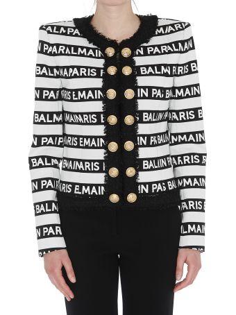 Balmain Logo Balmain Stripes Jacket