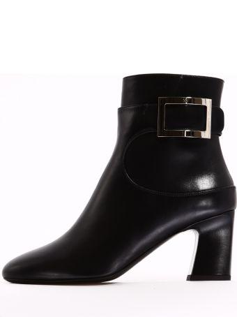 Roger Vivier Ankle Boot Black Leather