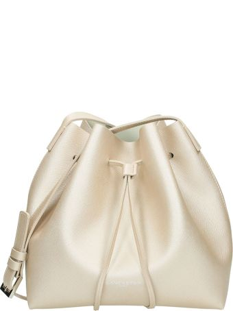 Lancaster Paris Saffiano Small Bucket Bag Champagne Leather
