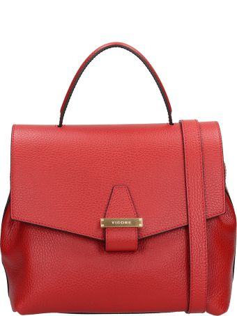 Visone Red Grained Leather Sofia Bag