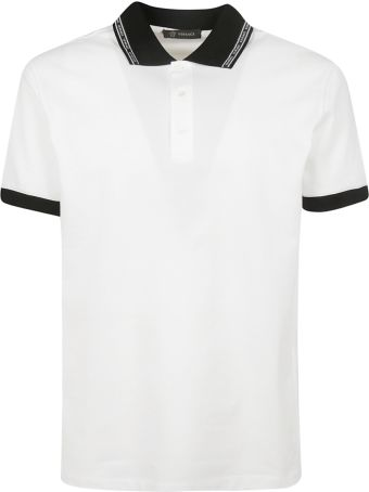 Versace Contrast Polo Shirt