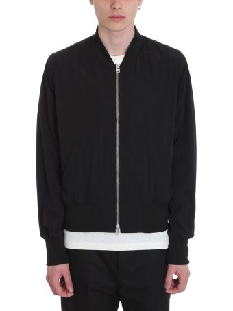 Ami Alexandre Mattiussi Zipped Black Nylon Bomber Jacket