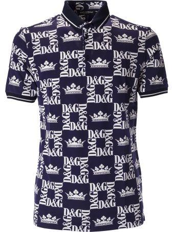 Dolce & Gabbana Printed Logo Polo Shirt
