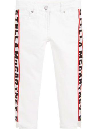 Stella McCartney Kids Jeans In Denim Bianco Bambina
