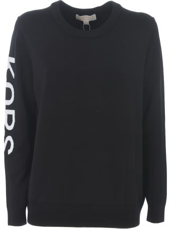 Michael Kors Logo Sleeve Print Sweatshirt