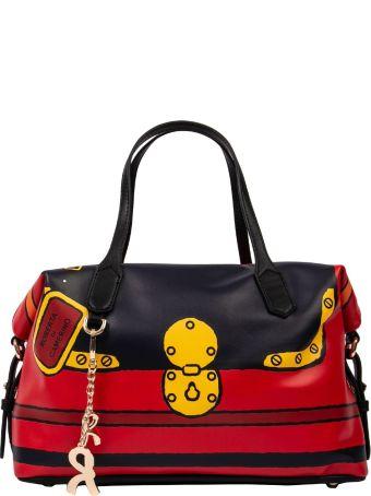 Roberta di Camerino Graphic Lock Handbag